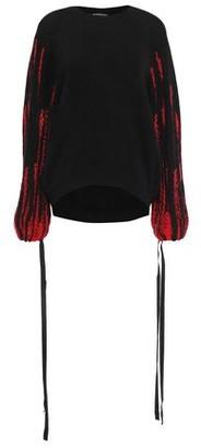 Ann Demeulemeester Intarsia Alpaca, Silk And Mohair-blend Sweater