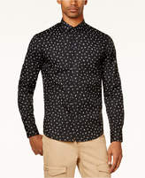 Sean John Men's Partial-Letters Print Shirt, Created for Macy's