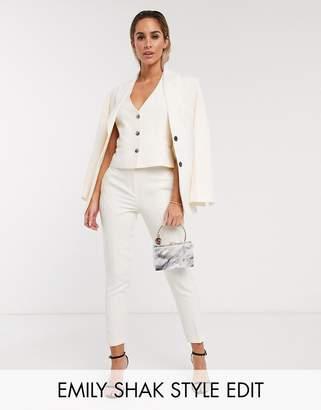 Asos Design DESIGN pop slim suit pants-White