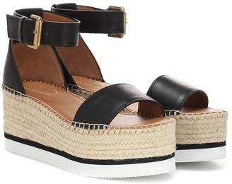 See by Chloe Glyn leather platform espadrille sandals