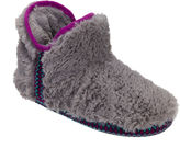 Dearfoams Fairisle-Trim Pile Bootie Slippers