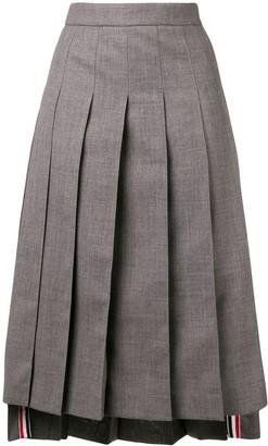 Thom Browne Ankle-Length Pleated Skirt