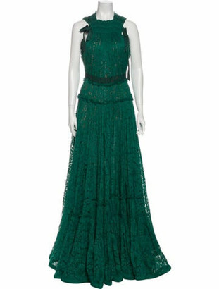 Lanvin 2015 Long Dress Green