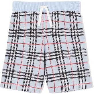 Burberry check merino wool jacquard shorts