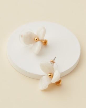 Lele Sadoughi Trillium Button Studs