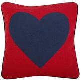 Jonathan Adler Needlepoint Heart Wool Pillow