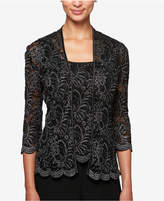 Alex Evenings Petite Glitter Lace Jacket & Shell
