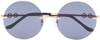 Karen Wazen Luna round-frame sunglasses