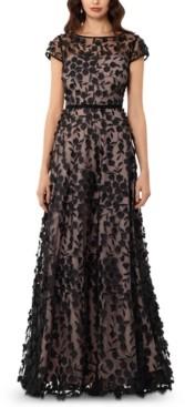 Xscape Evenings Petite Floral-Applique Gown