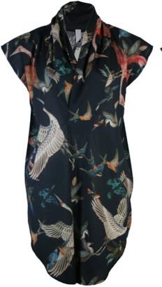 Format TOAT long tunique blouse birds-print - M