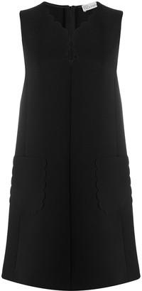 RED Valentino scallop trim shift dress