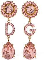 Dolce & Gabbana CHRISTMAS CRYSTAL CLIP-ON EARRINGS