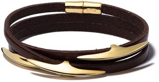 Shaun Leane Arc multi-wrap leather bracelet
