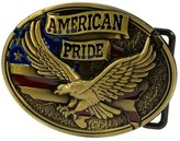 Buckle Rage Mens American Pride W/ Eagle And USA Flag Belt Buckle Antique