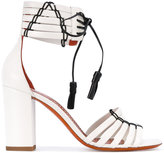 Santoni tie-up heeled sandals - women - Leather - 36