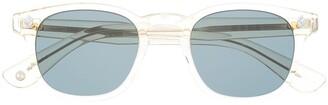 Garrett Leight Transparent Square-Frame Sunglasses