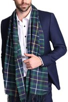 Maying Holiday Winter Men's Scarf in Rich Plaids Couple's Soft Cashmere Feel Shawl