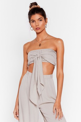 Nasty Gal Womens Water You Up to Bandeau Cover-Up Top - Beige - 6, Beige