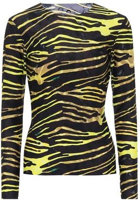 Marine Serre Zebra-print stretch-jersey top