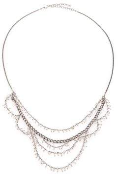 Chan Luu Sterling Silver Tiered Bead Necklace