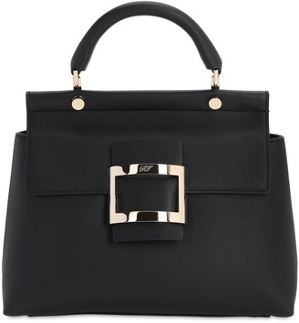 Roger Vivier Vive Kabat Leather Top Handle Bag