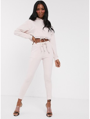 Club Skinny The Couture motif jogger in washed pink