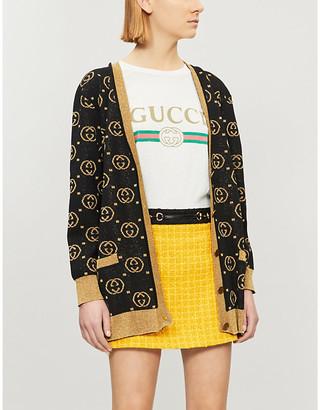 Gucci Women's White Logo-Print Cotton-Jersey T-Shirt