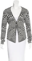 McQ by Alexander McQueen Abstract Printed Long Sleeve Cardigan
