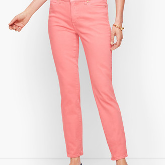 Talbots Slim Ankle Jeans - Garment Dyed Dusty Peach