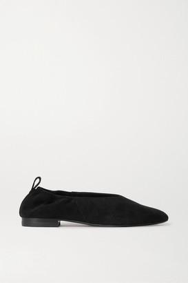 Co Suede Ballet Flats - Black