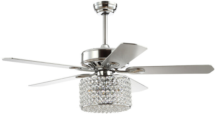 Thumbnail for your product : Jonathan Y Designs Brandy 52In 3-Light Crystal Prism Drum Led Ceiling Fan With Remote