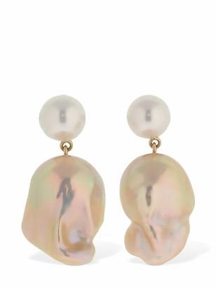 Sophie Bille Brahe Venus Rose Pearl Pendant Earrings
