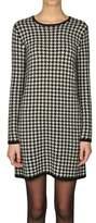 Ralph Lauren Women's White/black Wool Dress.