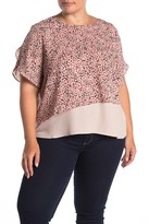 14th & Union Layered Chiffon Femme Blouse (Plus Size)
