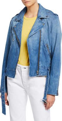 Rag & Bone Abbey Denim Moto Jacket