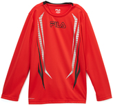 Fila Chinese Red Poly Long-Sleeve Tee - Boys