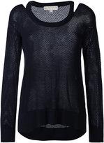 MICHAEL Michael Kors cut-out knit top - women - Viscose/Nylon/Polyester/Cashmere - M