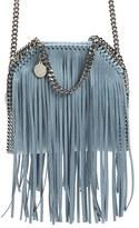 Stella McCartney 'Tiny Falabella' Fringe Faux Leather Tote - Blue