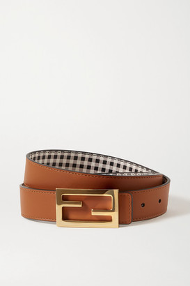 Fendi Reversible Leather Belt - Light brown