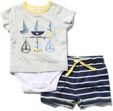 M&Co Boat applique bodysuit and shorts set