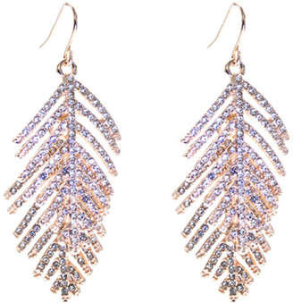 Oasis Pave Feather Earrings