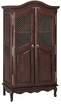 The Well Appointed House Full Door French Armoire with Wire Mesh Doors in Walnut