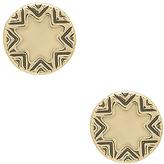 House Of Harlow Mini Sunburst Earrings in Metallic Gold.