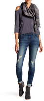 Just USA Mid Rise Distressed Skinny Jean