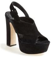 Alice + Olivia 'Larissa' Peep-Toe Sandal (Women)