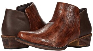 Roper Sofia Caiman (Tan Faux Leather) Women's Pull-on Boots