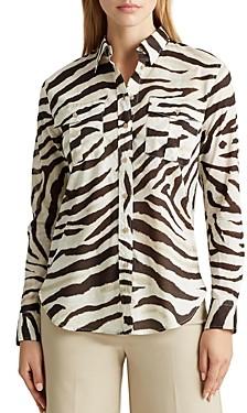Ralph Lauren Ralph Animal Print Button-Down Shirt