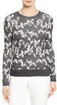 BOSS Women's Fabiana Abstract Herringbone Sweater