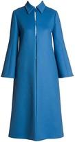Valentino Wool Trumpet-Sleeve Midi Coat