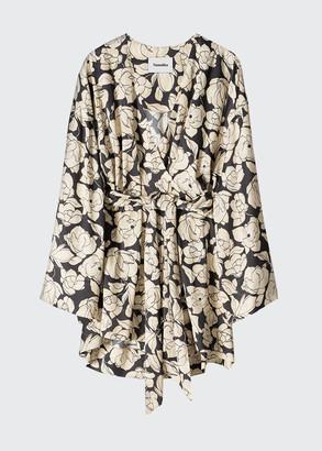 Nanushka Lara Floral-Print Wrap Dress